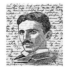 Nikola Tesla Shower Curtain 66  x 72  (Large)
