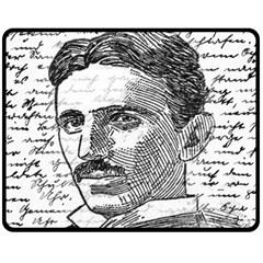 Nikola Tesla Fleece Blanket (Medium)