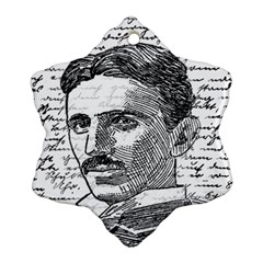 Nikola Tesla Snowflake Ornament (Two Sides)
