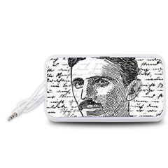 Nikola Tesla Portable Speaker (White)