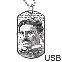 Nikola Tesla Dog Tag USB Flash (Two Sides)