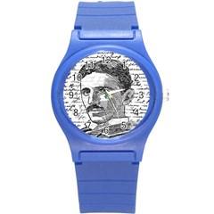 Nikola Tesla Round Plastic Sport Watch (S)