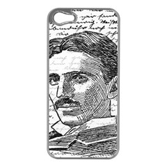 Nikola Tesla Apple iPhone 5 Case (Silver)