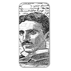 Nikola Tesla Apple Seamless iPhone 5 Case (Clear)