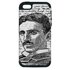 Nikola Tesla Apple iPhone 5 Hardshell Case (PC+Silicone)