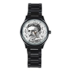 Nikola Tesla Stainless Steel Round Watch
