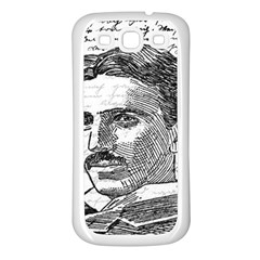 Nikola Tesla Samsung Galaxy S3 Back Case (White)