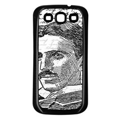 Nikola Tesla Samsung Galaxy S3 Back Case (Black)