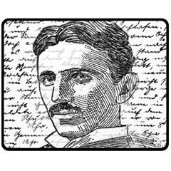 Nikola Tesla Double Sided Fleece Blanket (Medium)