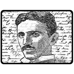 Nikola Tesla Double Sided Fleece Blanket (Large)
