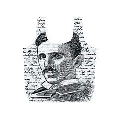 Nikola Tesla Full Print Recycle Bags (S)