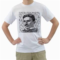 Nikola Tesla Men s T-Shirt (White)