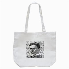 Nikola Tesla Tote Bag (White)