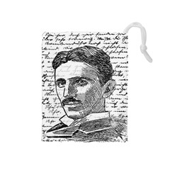 Nikola Tesla Drawstring Pouches (Medium)