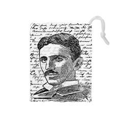 Nikola Tesla Drawstring Pouches (Medium)