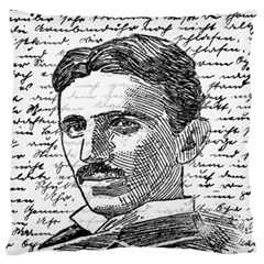Nikola Tesla Large Flano Cushion Case (Two Sides)