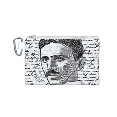 Nikola Tesla Canvas Cosmetic Bag (S)