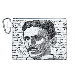 Nikola Tesla Canvas Cosmetic Bag (L)