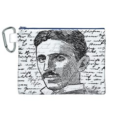 Nikola Tesla Canvas Cosmetic Bag (XL)