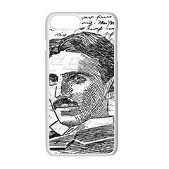 Nikola Tesla Apple iPhone 7 Plus White Seamless Case