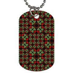 Asian Ornate Patchwork Pattern Dog Tag (One Side)