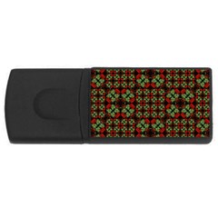 Asian Ornate Patchwork Pattern USB Flash Drive Rectangular (1 GB)