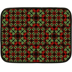 Asian Ornate Patchwork Pattern Double Sided Fleece Blanket (Mini)