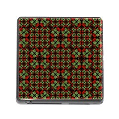 Asian Ornate Patchwork Pattern Memory Card Reader (Square)