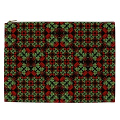 Asian Ornate Patchwork Pattern Cosmetic Bag (XXL)
