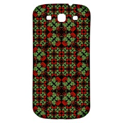 Asian Ornate Patchwork Pattern Samsung Galaxy S3 S III Classic Hardshell Back Case
