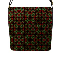 Asian Ornate Patchwork Pattern Flap Messenger Bag (L)