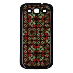 Asian Ornate Patchwork Pattern Samsung Galaxy S3 Back Case (Black)
