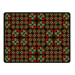 Asian Ornate Patchwork Pattern Double Sided Fleece Blanket (Small)