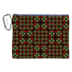 Asian Ornate Patchwork Pattern Canvas Cosmetic Bag (XXL)