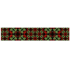 Asian Ornate Patchwork Pattern Flano Scarf (Large)