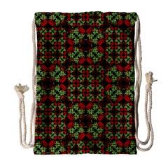 Asian Ornate Patchwork Pattern Drawstring Bag (Large)
