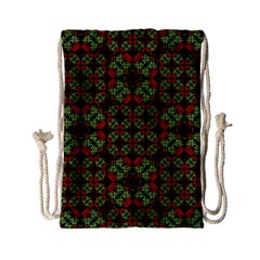 Asian Ornate Patchwork Pattern Drawstring Bag (Small)