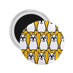 Yellow Owl Background 2.25  Magnets