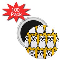 Yellow Owl Background 1.75  Magnets (100 pack)