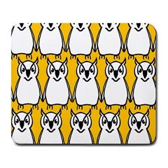 Yellow Owl Background Large Mousepads