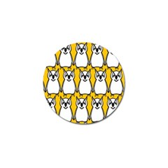 Yellow Owl Background Golf Ball Marker