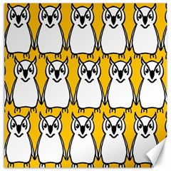 Yellow Owl Background Canvas 20  x 20