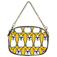 Yellow Owl Background Chain Purses (Two Sides)