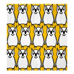 Yellow Owl Background Shower Curtain 66  X 72  (large)