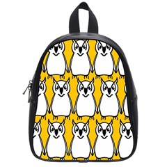 Yellow Owl Background School Bags (small)