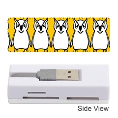 Yellow Owl Background Memory Card Reader (stick)