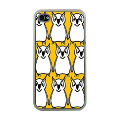 Yellow Owl Background Apple iPhone 4 Case (Clear)