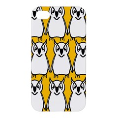 Yellow Owl Background Apple iPhone 4/4S Premium Hardshell Case