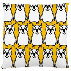 Yellow Owl Background Large Cushion Case (One Side)