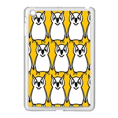 Yellow Owl Background Apple iPad Mini Case (White)